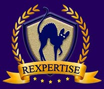 Rexpertise Cornish rex cat breeder logo